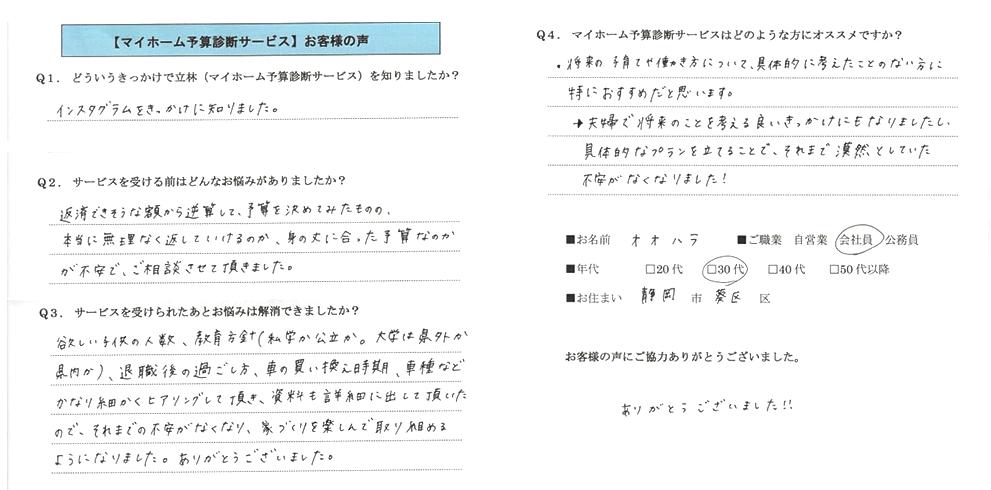 FP相談は静岡の住まいのマネー診断